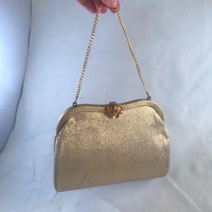 Vintage Gold Admiral Evening Clutch w/ Chain Strap